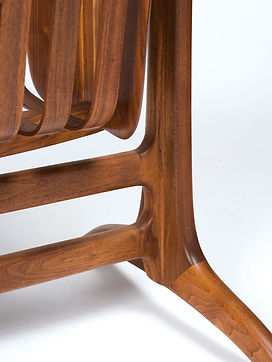Details of Cradle in Walnut