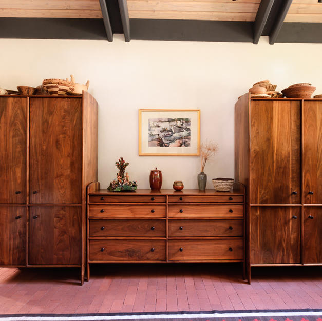 Double Armoire and Dresser Set