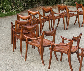 Lowback Chair in Sapele
