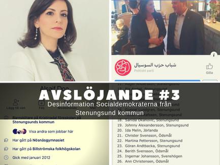 Avslöjande #3  Socialdemokrat från Stenungsund sprider och eskalerar desinformation