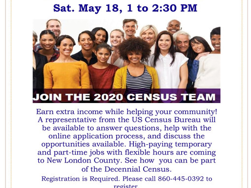U.S. Census Bureau Jobs Coming to New London County