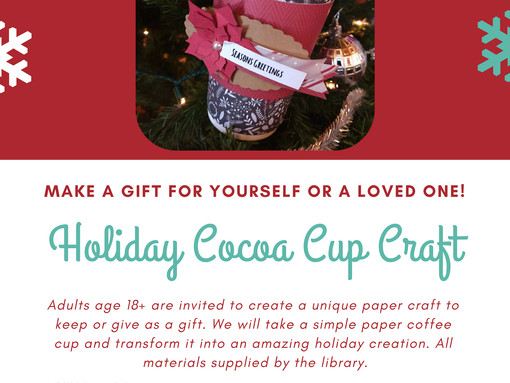 Holiday Cocoa Cup Craft