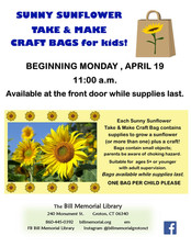 Celebrate Spring with A Sunny Sunflower Take & Make Craft Bag