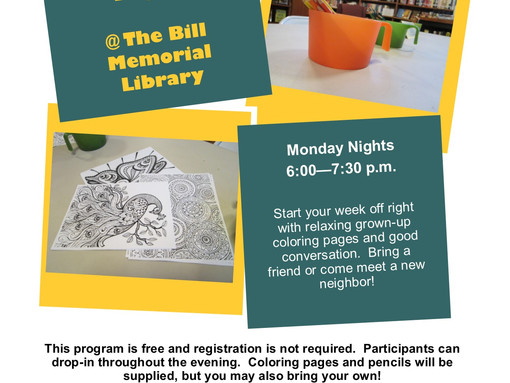 Community Coloring Nights for Adults!
