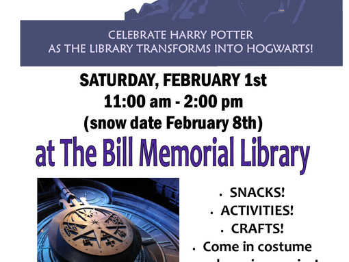 Celebrate Harry Potter on Take Your Child to the Library Day!