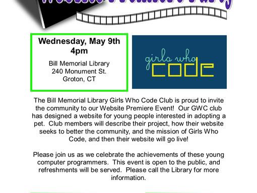 Girls Who Code Website Premiere