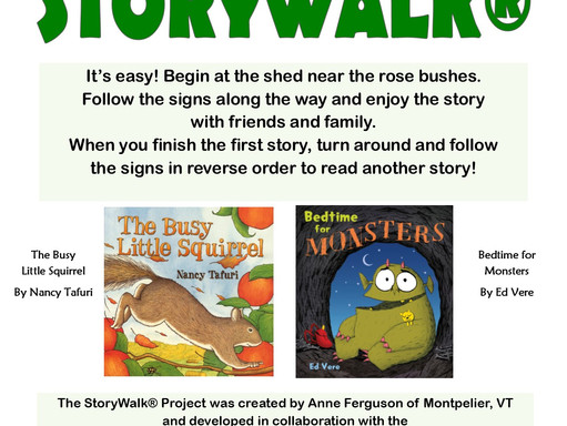 Storywalk(R) #2! Now with a chance to win prizes!