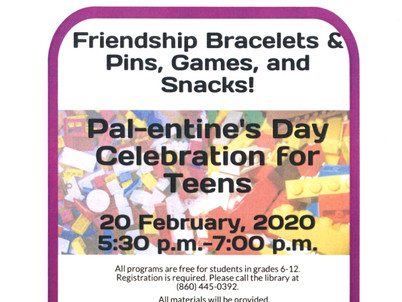 Pal-entine's Day Celebration for Teens