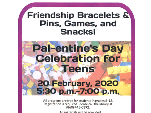 Celebrate Pal-entine's Day for Teens