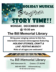 HOLIDAY MUSICAL STORY TIME DECEMBER 2019