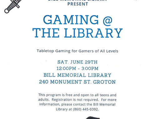 Gaming @ the Library for Teens & Adults