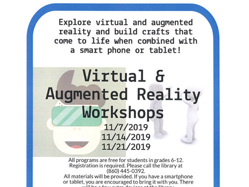 Explore Virtual & Augmented Reality @ the Bill Memorial Library
