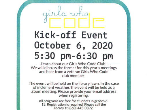 Girls Who Code Kickoff Event