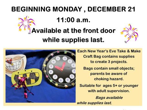 New Year's Eve Take & Make