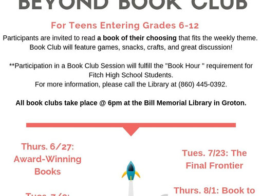 To the Library & Beyond Book Club for Teens