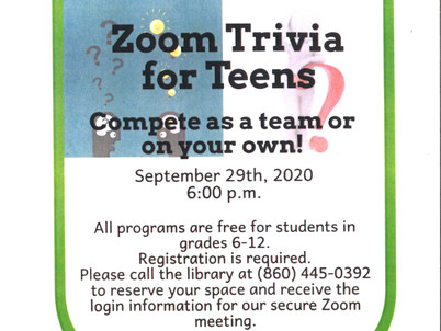 Zoom Trivia for Teens