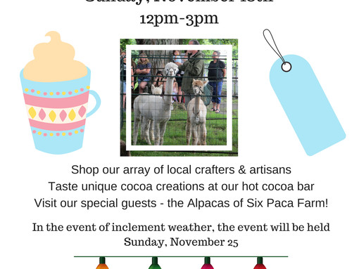 Cocoa & Crafts Holiday Shopping Event