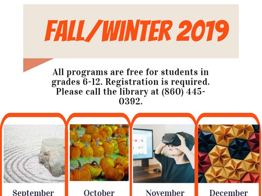 Teens - Come Join us for our upcoming Fall/Winter Events