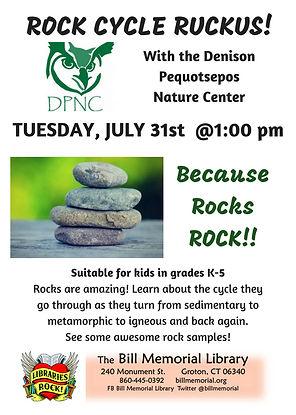 Rock Cycle Ruckus with DPNC | billmemoriallibrary