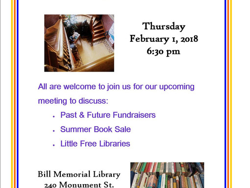 A Meeting of the Friends of the Bill Memorial Library