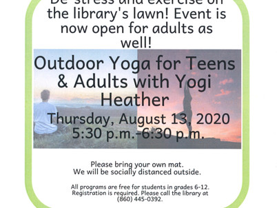 Outdoor Yoga for Teens and Adults @ BML