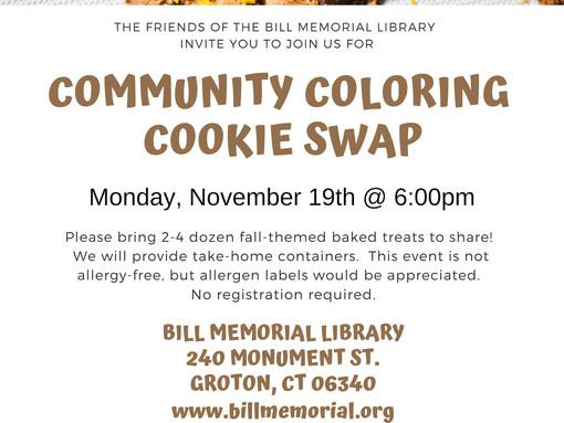 Community Coloring Cookie Swap