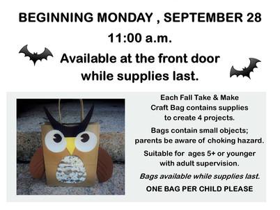 Fall Take & Make Craft Bags