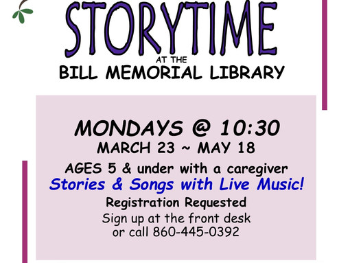 Spring Storytime @ the Bill Memorial Library