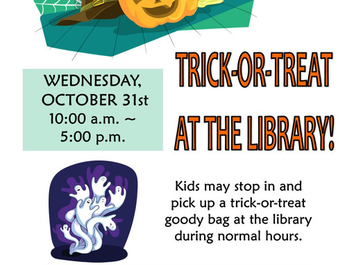 Trick-or-Treat at the Library