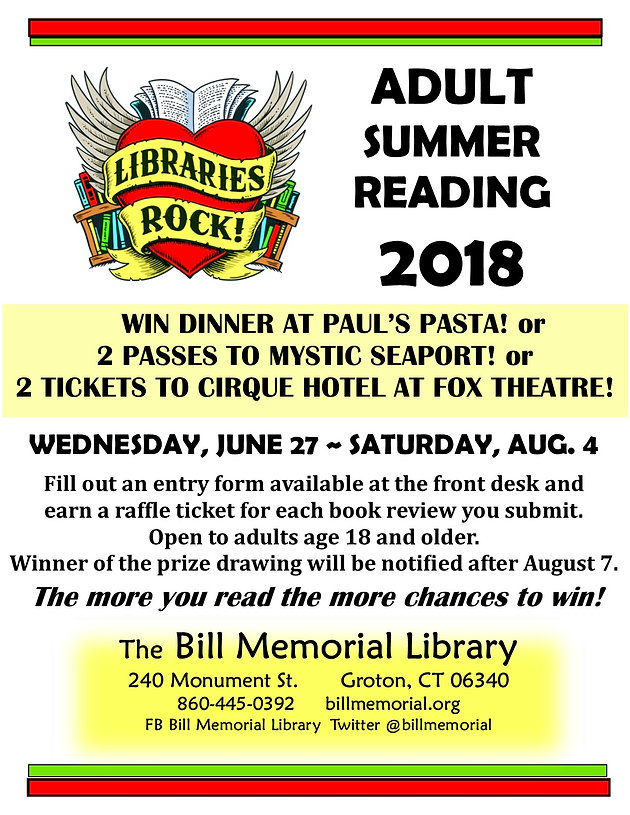 Adult Summer Reading | billmemoriallibrary