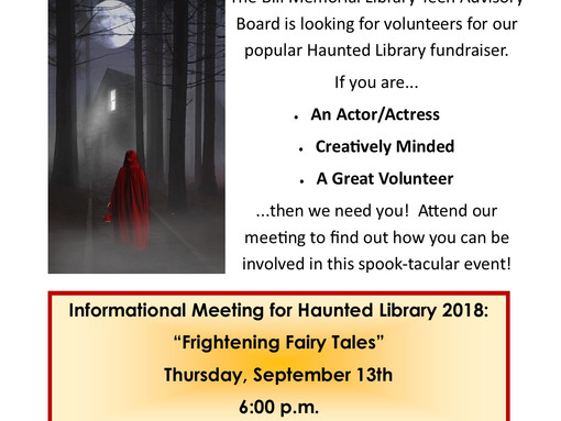 Haunted Library Planning Meeting