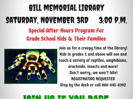 Riverside Reptiles Presents: Jeepers Creepers!