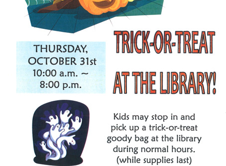Trick-Or-Treat at the Library!