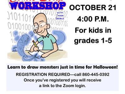 Draw Monsters @ BML's Virtual Comic Strip Workshop