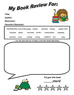 Book Review Form for younger kids 2021.j