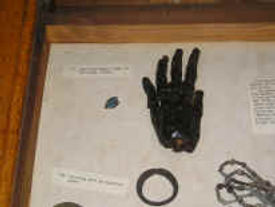The mysterious mummy's hand