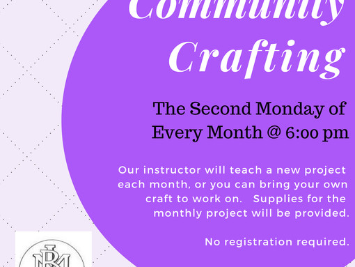 Community Crafting at the Bill Memorial Library