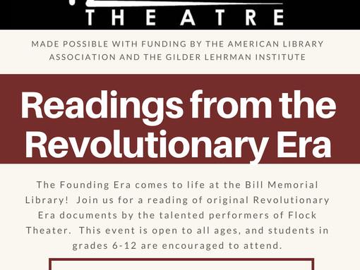 Flock Theater - Readings from the Revolutionary Era