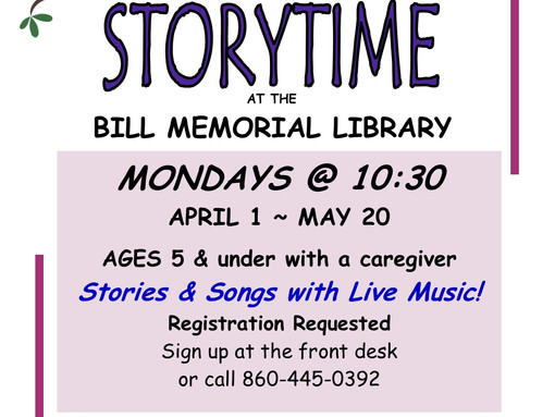 Spring Storytime - Stories & Songs