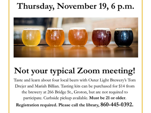 Zoom Beer Tasting with Outer Light Brewery