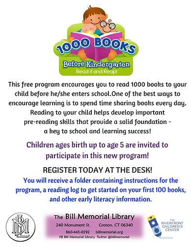 1000 Books Before Kindergarten Flyer