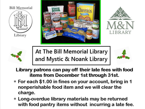 December is Food for Fines Month