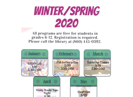TEEN - Winter/Spring 2020 Events