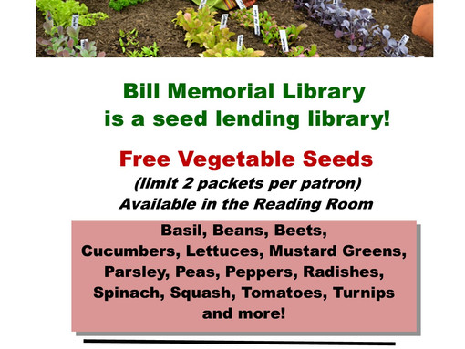 Visit our Seed Lending Library and Plan Your Garden