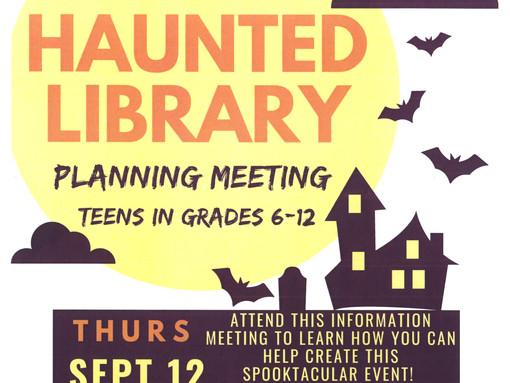 Seeking Teen Volunteers for Haunted Library!