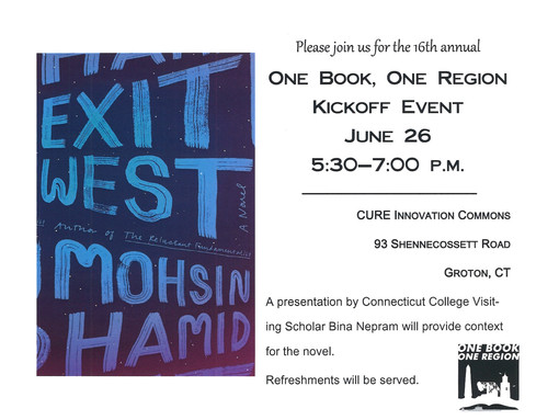 One Book, One Region Kickoff Event