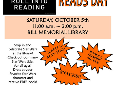 Roll Into Reading On Star Wars Reads Day!