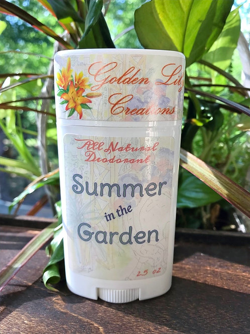 All Natural Deodorant - Summer in the Garden