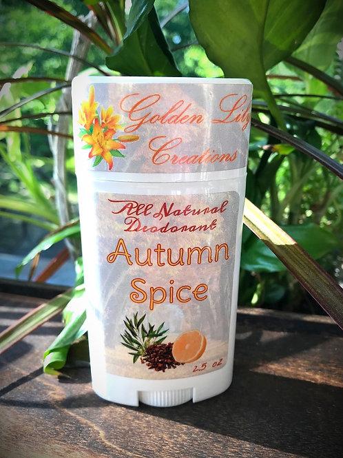 All Natural Deodorant - Autumn Spice
