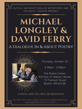 Michael Longley & David Ferry 10.10.2019